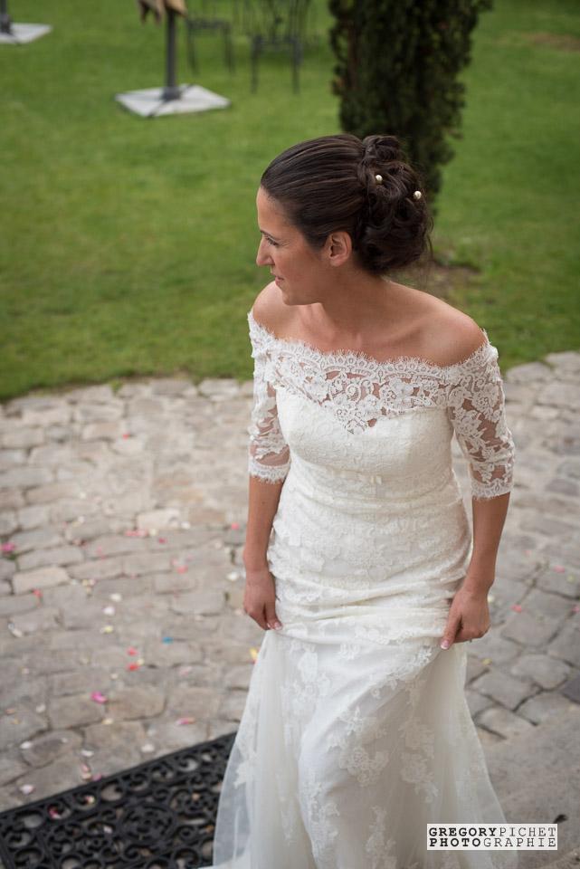 Portrait impromptu de la mariée
