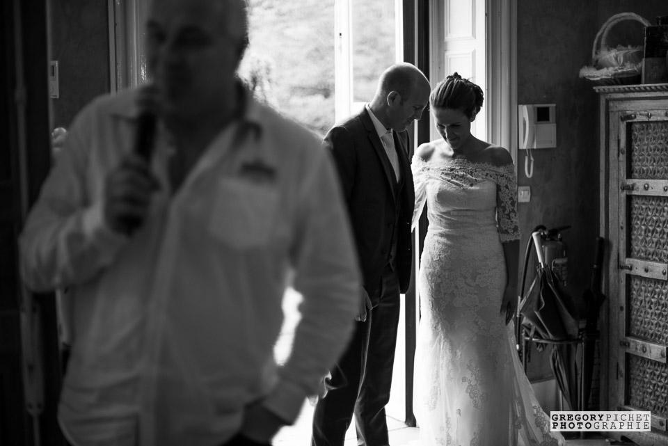 Arrivée des mariés à la soirée