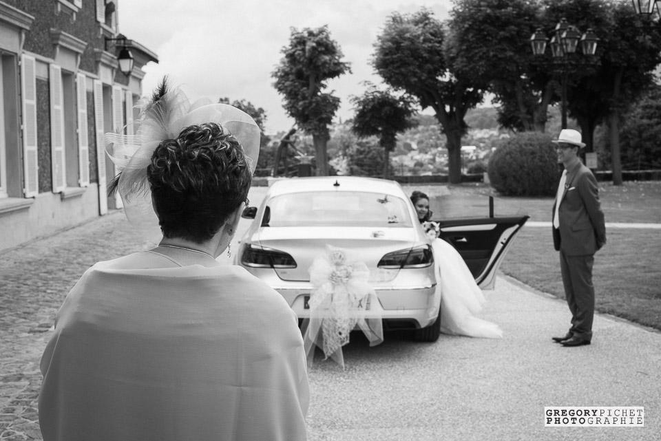 Arrivée de la mariée à la mairie