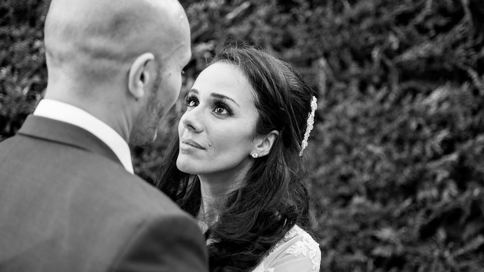 Magie d'un regard au sein d'un couple de mariés