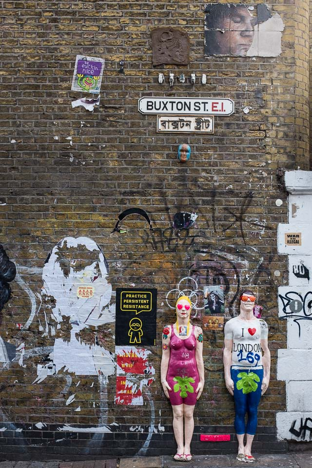 Street art London Brick lane