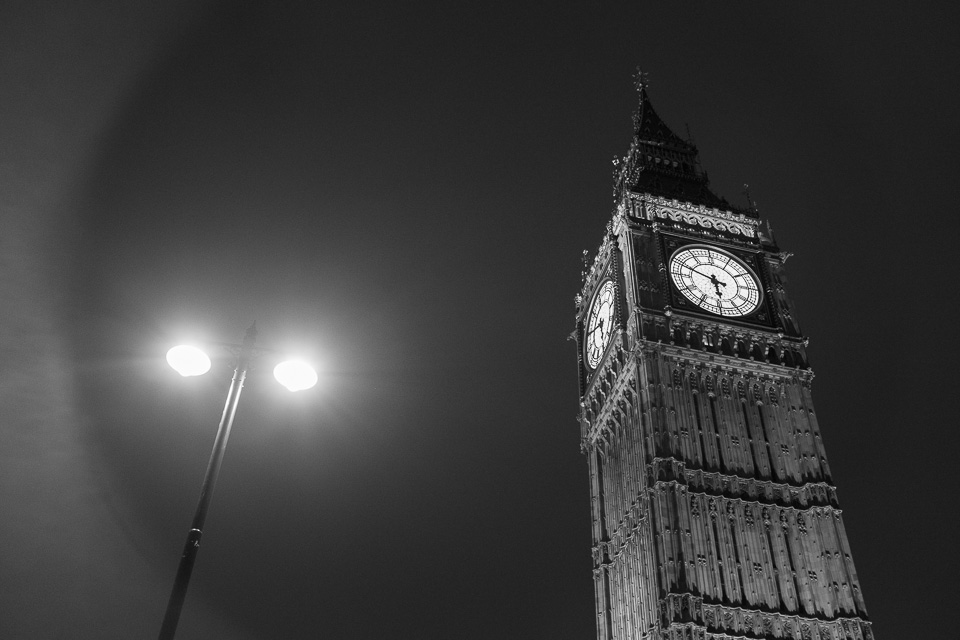 Big Ben London black and white photography