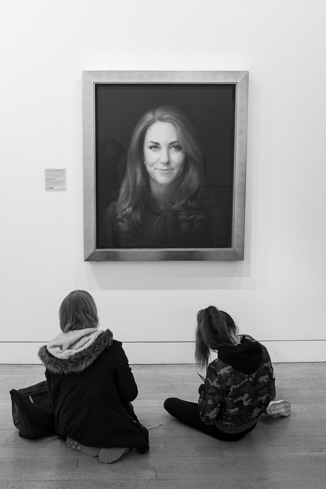 Practising with Kate Middelton at National Portrait Gallery