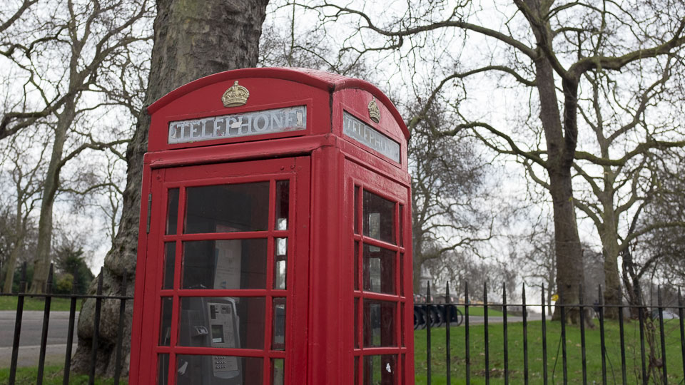 Hyde Park and phone box