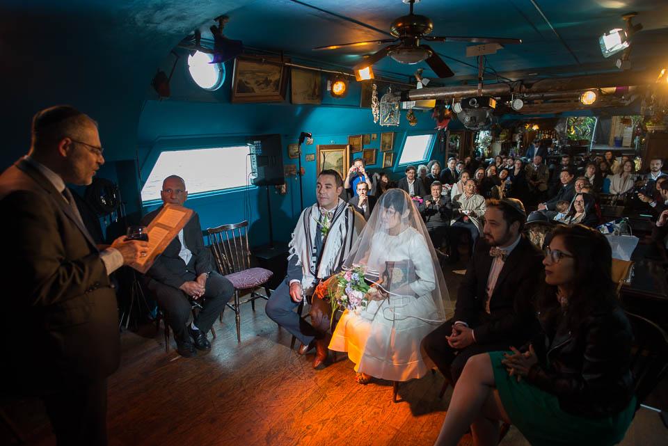 Mariage juif sur le bateau Al Alamein à Paris