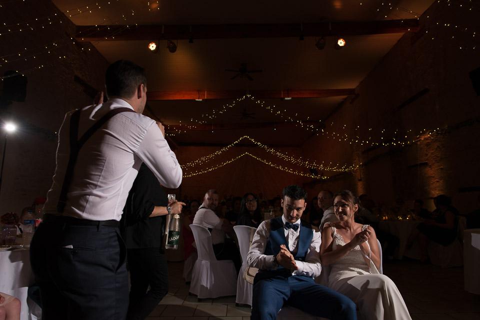 Discours du témoin de la mariée devant les mariés aux Granges du Chesnay