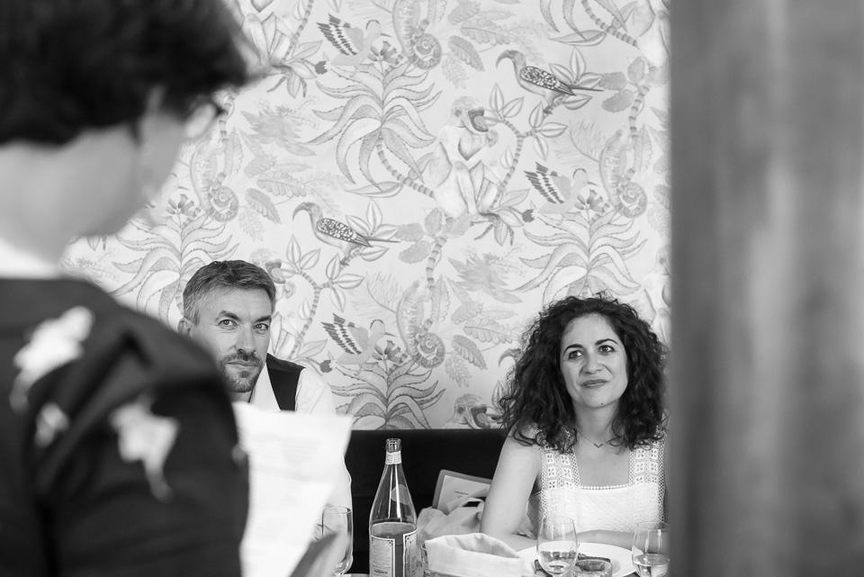 Déjeuner de mariage dans le Restaurant Les Belles Plantes dans le 5ème arrondissement de Paris